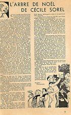 ARBRE DE NOEL DE CECILE SOREL ADP DE ROBERT DIEUDONNé 1934