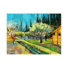 Vincent Van Gogh Orchard Bordered by Cypresses Vintage Print-FREE US SHIPPING