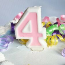 Pink 4 Number Candle White Premium Birthday Candle Anniversary Birthday Cake