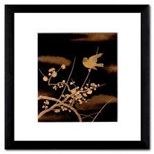 Shoshun primavera all'inizio del Giappone Maki-e immagine PASSEPARTOUT LEGNO MASSICCIO quadro 20 x 20