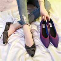 Pointed Toe Flat Environmental Women Shoes Multicolor Breathable Anti-slip Weave