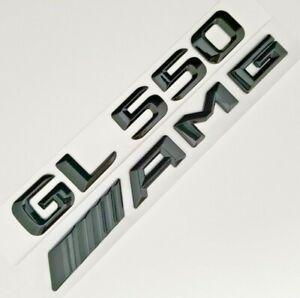 1+1 BLACK GL550+AMG FIT MERCEDES REAR TRUNK EMBLEM DECAL BADGE NAMEPLATE LETTER