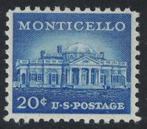 Scott 1047- MNH- 20c Monticello- Liberty Series- unused mint stamp