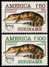 ✔️ SURINAM 1993 - UPAEP FAUNA CROCODILES - MI. 1455/1456 ** MNH OG [101.002A]