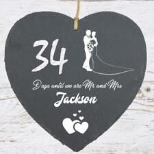 Personalised Wedding Countdown Slate Plaque Sign Engagement Gift SLA210-13