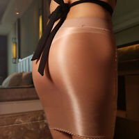 Sexy Women Sheer Skirt Micro Mini See Through Shiny Short Bodycon Stretch Skirts