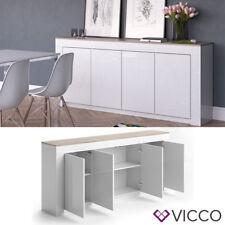 VICCO Sideboard ROMA 190 cm Weiß Hochglanz - Kommode Anrichte Wohnzimmerschrank