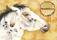 "ACEO Giclee PRINT watercolor 2.5"" x 3.5"" mustang spirit horse 'SPIRIT DANCER'"