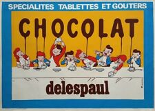 Delespaul Chocolat, France, Vintage Grocery and Confectionery Poster