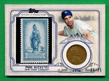 2016 Topps PHIL RIZZUTO STAMP & COIN  (HOF) Yankees 06/25