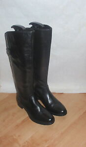 NEW Clarks softwear womens KNIGHT HOOD black leather riding boots size UK 3