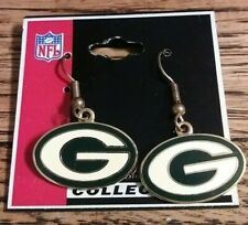 Peter David Collectible Nfl Football Green Bay Packers Team Logo Earrings New