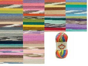 James C Brett Fairground DK  Knitting Yarn 100g 12 Colours