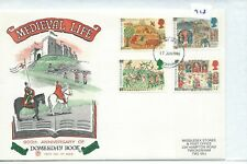 Gb - First Day Cover - Fdc - 918 - Specials - 1986 - Medieval Life -Domesday Bk