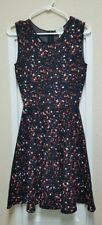 New $1990 Akris punto Print Knit Fit Flare Sleeveless Dress Sz 2