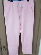 J Crew The Sutton Summerweight Light Pink Chino Pants Mens 34 x 32  NWT