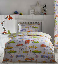 Cars Duvet Cover Kids Car Motor Transport Colourful Reversible Bedding Range