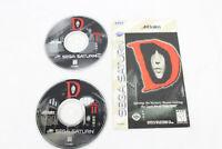 D (Sega Saturn, 1996) Manual and 2 Discs