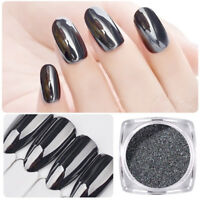 0.5g Black Nail Mirror Powder Glitter Pigment Chrome Powder Nail Art Decoration