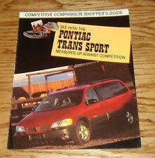 Original 1998 Pontiac Trans Sport Foldout Sales Brochure 98