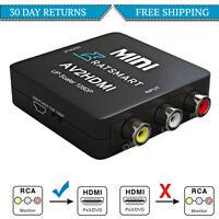 RCA to HDMI Converter, Composite AV CVBS Video Adapter 720p 1080p Wii, NES SNES