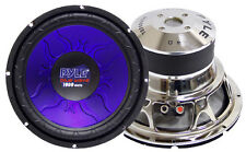 1 New Pyle PL1290BL 12'' 1200 Watt DVC Subwoofer Sub Car Audio