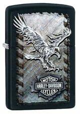 Zippo Harley-Davidson Iron Eagle Lighter, Black Matte, Windproof #28485