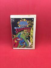 Vintage DC Super Powers Superman Action Figure Mini Comic Book #1 Kenner 1984