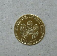 2012 Tristan Da Cuhna 1936 The Year Of Three Kings Proof Gold Coin with COA