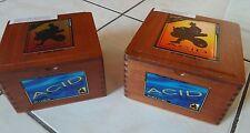 2 Acid empty wood cigar craft jewerly box lot