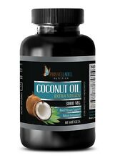 Pure Coconut Oil 3000mg Extra Virgin Non-GMO Fatty Acids 1 Bottle, 60 Capsules