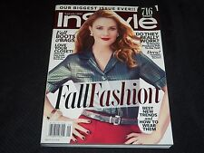 2013 SEPTEMBER IN STYLE MAGAZINE - DREW BARRYMORE FRONT COVER - FASHION - J 2928