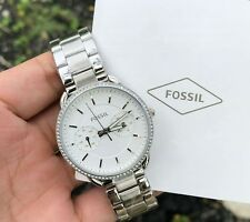 Authentic Original Fossil ES4262 Analog silver ladies womens watch
