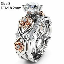 2017 Women Multiple Finger Stack Knuckle Band Crystal Ring Set Jewelry Gift Gold