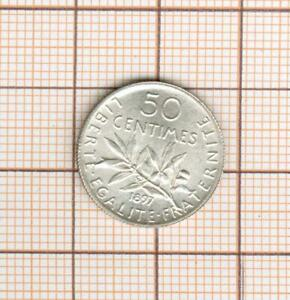 Quality! 50 Cents Silver Sower Year Rare 1897
