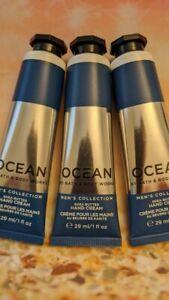 3 Bath & Body Works Hand Cream Men's Collection OCEAN Travel Size New