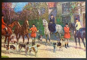 """Vintage TUCO Picture Puzzle """" Awaiting The Call"""" Complete 15"""" x 22"""""""
