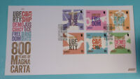 2015 JERSEY MAGNA CARTA SET OF 6 STAMPS FDC FIRST DAY COVER