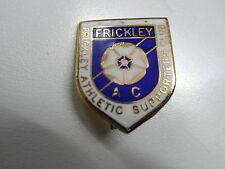 RARE OLD FOOTBALL BADGE FRICKLEY ATHLETIC SUPP.CLUB NON-LEAGUE BROOCHPIN FITT.