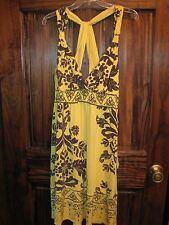 NWT Large HALE BOB Handmade Canary Yellow Sun Dress Style # OFTD6622