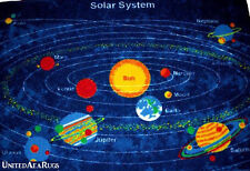 3x5 Educational Rug Solar System  Universe Planetary Star Planet  Kid School New