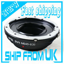 Kipon Mamiya 645 M645 lens to Canon EOS EF Mount Shift Adapter 5D III 6D 60D 70D