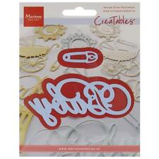 "Marianne Designs Creatables Dies LR0217 Baby Text & Safety Pin 4""X2"" & 1.5""X.5"""