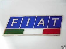 Enamel Chrome FIAT Italian Flag Car Badge Punto Panda