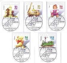 BRD 2002: Spielzeug! Jugendmarken Nr. 2260 - 2264 mit Berliner Stempeln! 1A 1607
