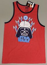 588bb9c9c8d490 Mens Darth Vader Tank Top Star Wars Disney Size Large Red White Blue
