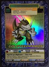 2002 Digimon Series 6 BO-279s GOLDVEEDRAMON HOLO FOIL CARD MINT / NEVER PLAYED