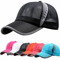 Summer Mesh Baseball Cap Sports Trucker Snapback Sun Visor Hats Men Women Unisex