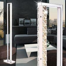 LED Steh Leuchte Wohnraum Kristall Stand Lampe Touchdimmer drehbar Decken-Fluter