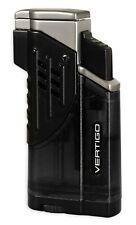 Vertigo Glock Black Triple Torch Butane Lighter, Large Flame Adjustor